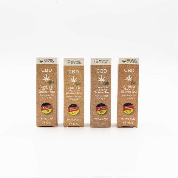 Breathe Organics Vanille & Matcha Grüner Tee Premium CBD E-Liquid