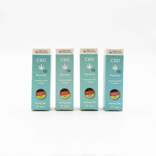 Breathe Organics Menthol Premium CBD E-Liquid
