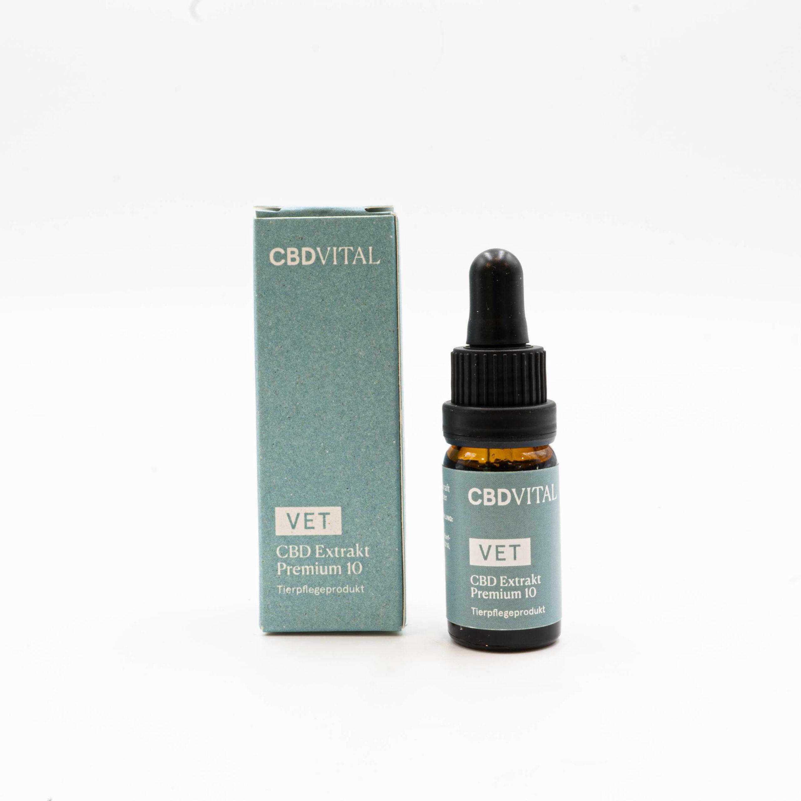 CBD Vital Vet CBD Extrakt Premium 10 % für Tiere ab 20kg - 10ml